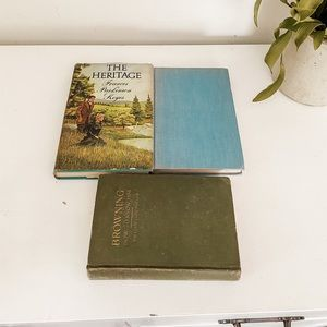 Accents - Set of 3 vintage books
